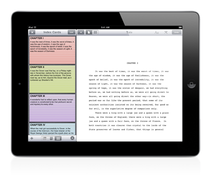 Storyist on iPad